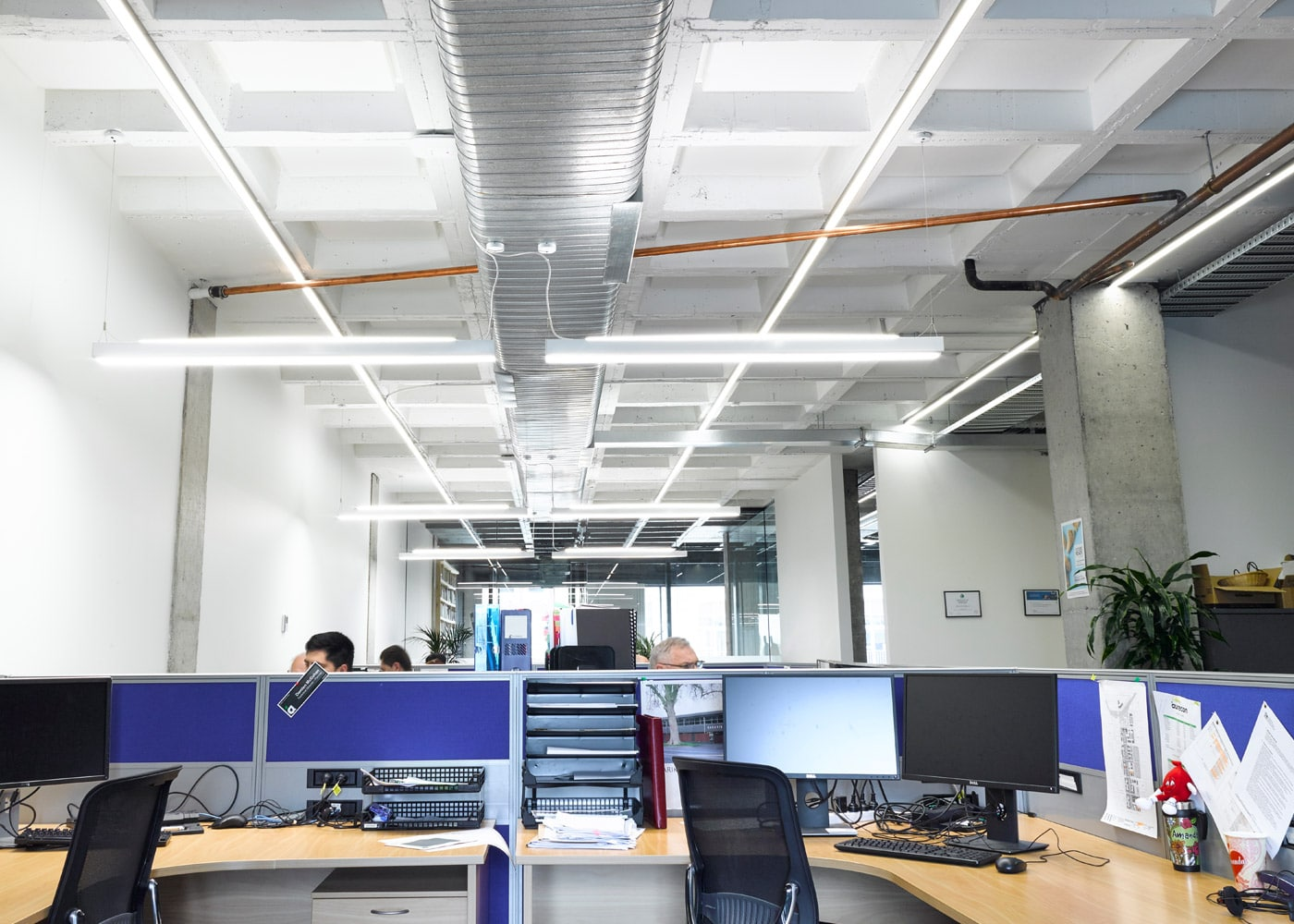 EnerlinkLED Office Lighting System-Aurecon Consultants, Hamilton Offices.